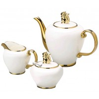 CJ 3PC P/CAFE DE PORCELANA SUPER WHITE CHARME